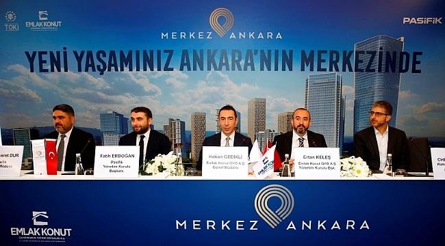 Emlak Konut GYO ve Pasifik İnşaat ortak projesi Merkez Ankara Lansmanı