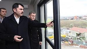 Bakan Kurum Kirazlıtepe kentsel dönüşüm Projesinde incelemelerde bulundu