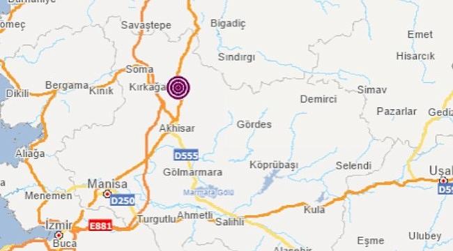 Son dakika.. Manisa'da 4.8 şiddetinde yeni bir deprem daha!
