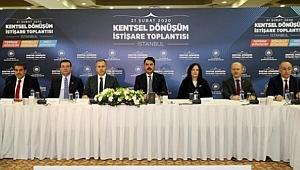 Bakanlık, belediyeler ve yerel idareler'den İstanbul'da kentsel dönüşüm seferberliği