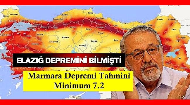 Prof. Naci Görür ''Marmara depremi Minimum 7.2 şiddetinde olacak!''