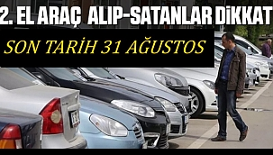 Bakan Pekcan uyardı '2.El araç alım satımı yapanlar dikkat! Son tarih 31 Ağustos'