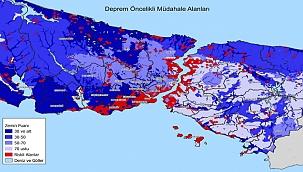 Gaboras İstanbul'un Deprem riski haritasını yayınladı.